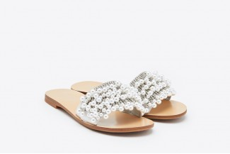 6e3ef1f831ba0 2639-6 Silver Embellished Pearl Sandals