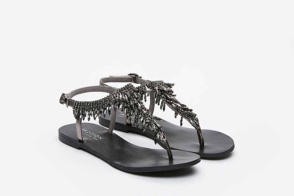 30cd93ae29d38 3088-24 PEWTER DAZZLING CRYSTAL T-SANDALS